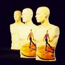 Beschilderde torso's met Rabobank logo t.b.v. opening nieuw Rabobankfiliaaldoor Susan Burgers Element ontwerp & uitvoering