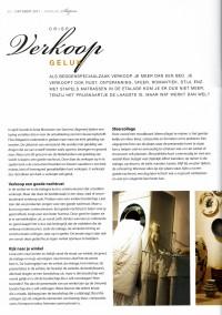 """Artikel voor vakblad slapen. Oorspronkelijke titel """"Je verkoopt geen bed"""" najaar 2011"""