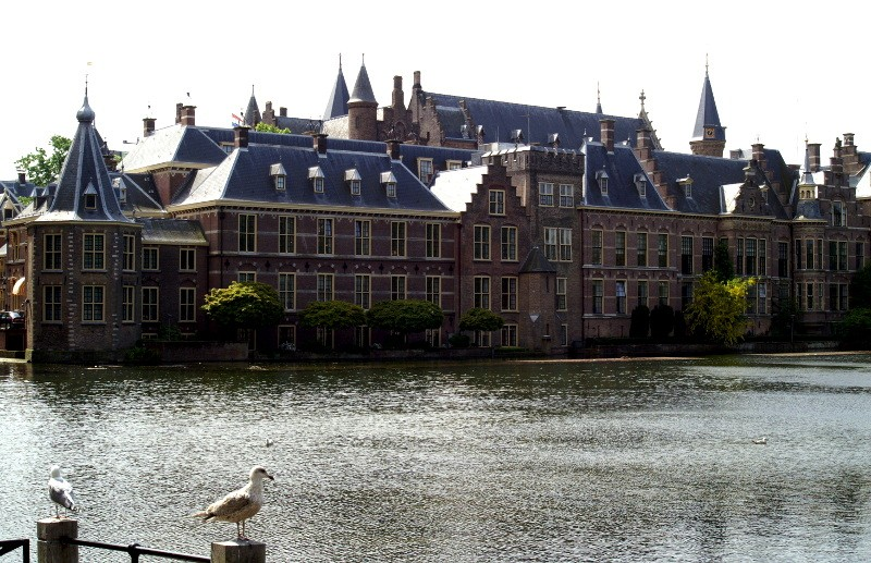 Zicht op Binnenhof Den Haag