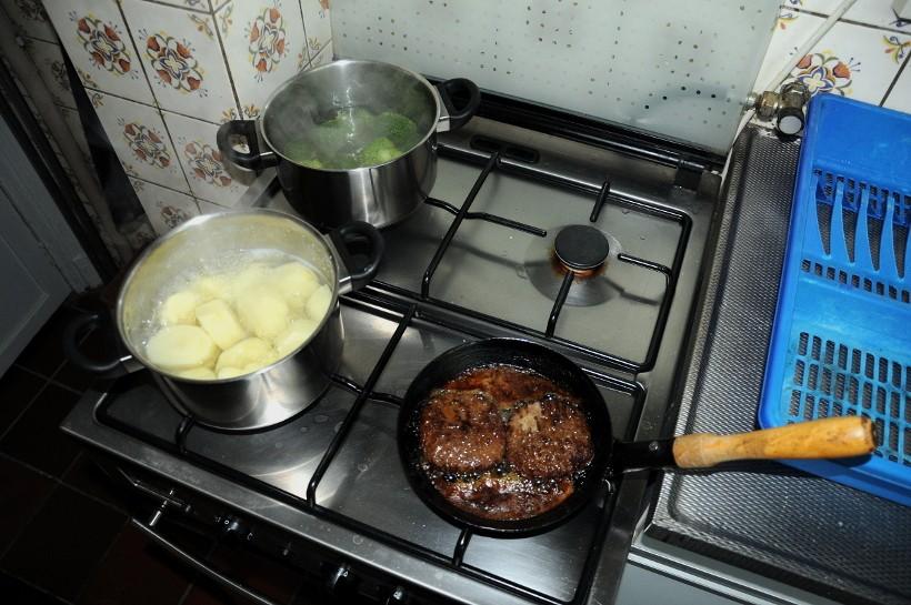 Aardappelen groente vlees