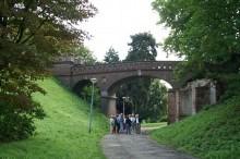 Voetbrug in het Hunnerpark