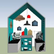 Schets grafisch huisje Siematicstylist Beurs eigen huis bouwen en verbouwen