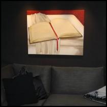 Schilderij boek op doek door Susan Burgers Element ontwerp & uitvoering