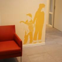 Wandschildering om makelaarskantoor vriendelijker en toegankelijker te maken door Susan Burgers Element ontwerp & uitvoering