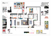 Kleurenplan benedenverdieping
