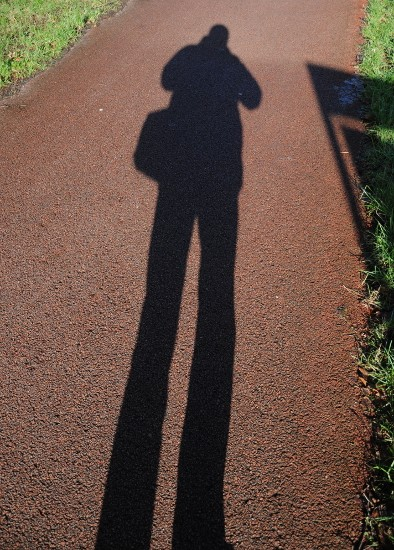 A man and his shadow