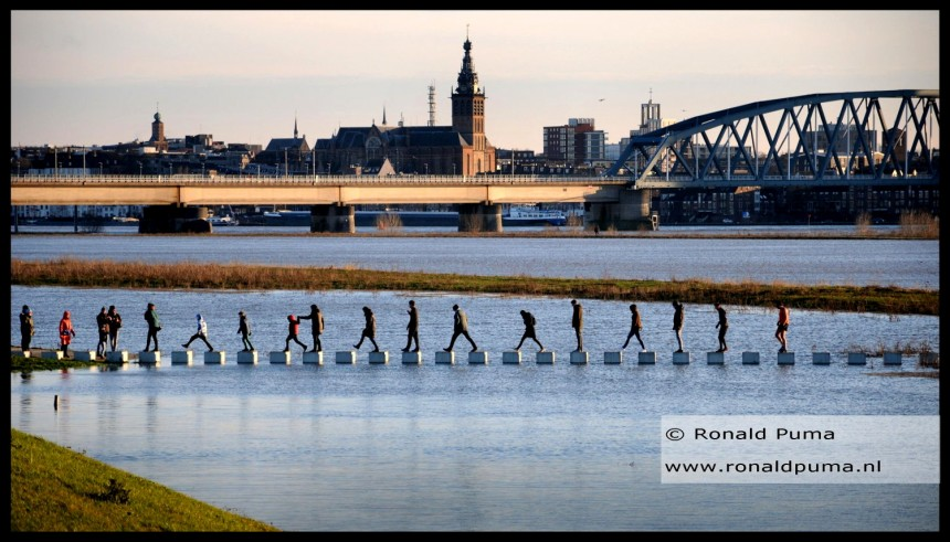 Hoogwater Waal Nijmegen Januari 2018