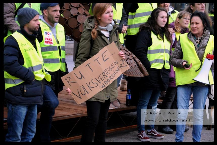 Gele hesjes protest Nijmegen