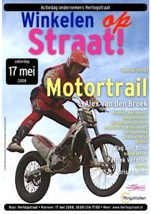 Poster met hhofdattractie Motortrail Allex van den Broek