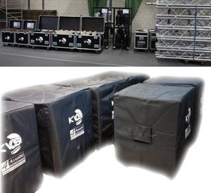 Bekabeling, rigging, verlichting en 4-acoustic geluidssystemen